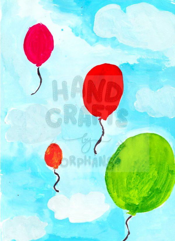 """Принт для нанесення """"Повітряні кульки"""""""