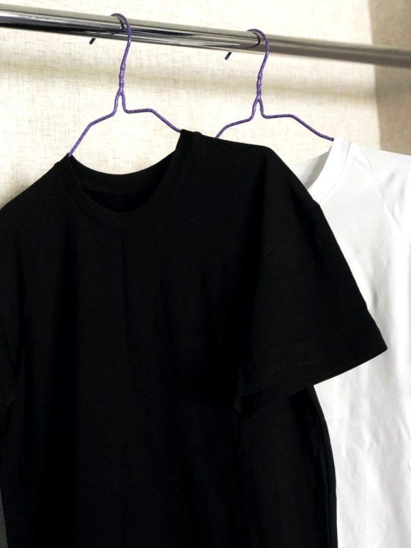 Базова чорна та біла футболка під нанесення малюнка